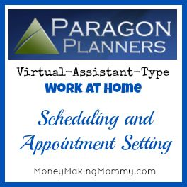 Ever wanted a virtual assistant type work at home job where you do scheduling and making appointments? Check out this review of Paragon Planners.