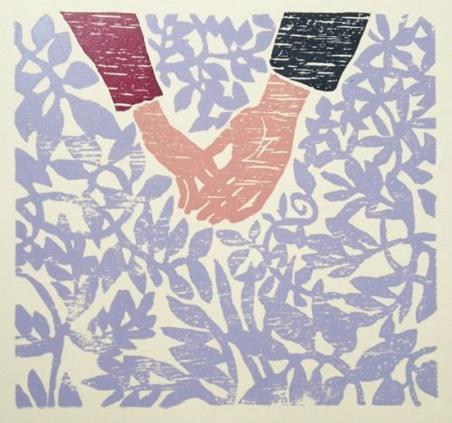 Kunstner: Gunhild Vegge   Teknikk: Grafikk, tresnitt   Motiv:29 x 30,5 cm   Ark:41 x 37,5 cm   To fargevarianter: en med rød arm og andre med blå arm   Opplag 3   5% kunstavgift inkludert i prisen      Klikk på bildet for en større utgave