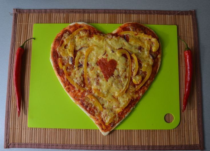 Pizza made with love!  #heart #shaped #pizza #foodporn #love #nom #yummy #tasty #delicious