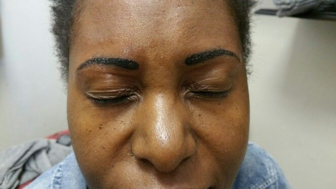 Permanent make-up eyebrows