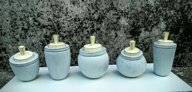 #handbuilded#jars with lid#my ceramic artwork#Theodora Tsirakoglou#
