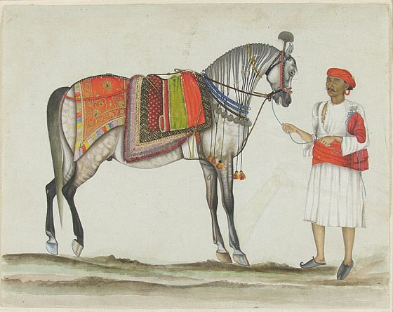 Ranjit Singh's Horse with a One-Eyed Groom, c. 1825 - 1850