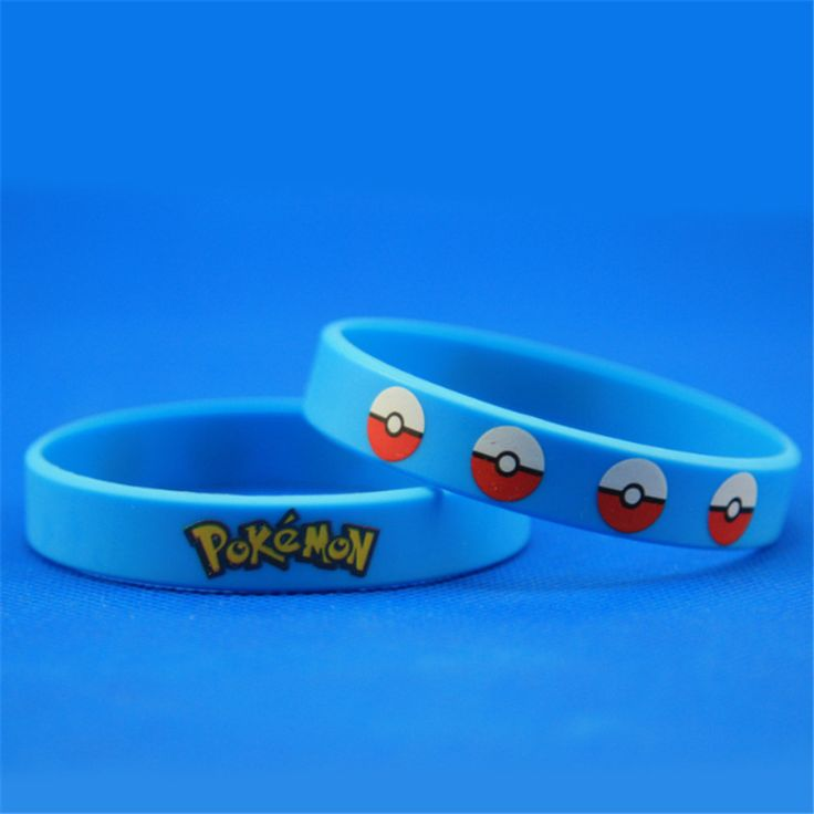 12pcs/lot hot sale Pokemon Pikachu Bracelets Wristband Silicone Bracelet Party Gifts Bangle free shipping