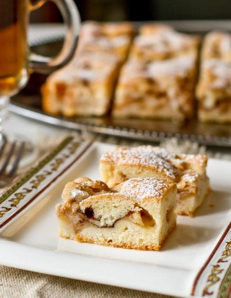 Яблочный пирог на кексовом тесте