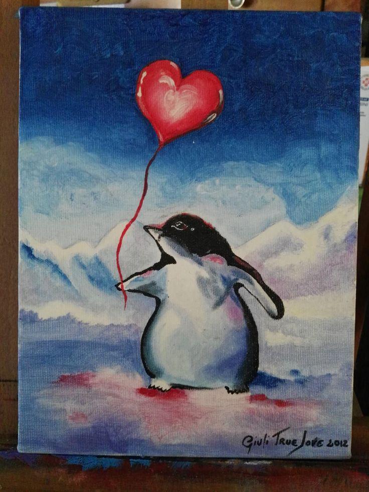 penguin love di GiuliTrueLove su Etsy