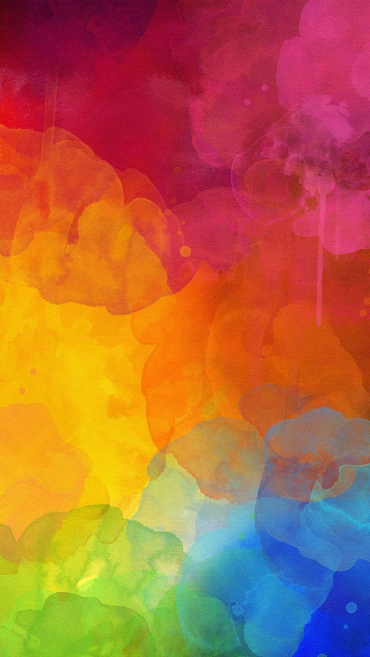 Colourful Watercolour Mark. Color of rainbow in abstract.