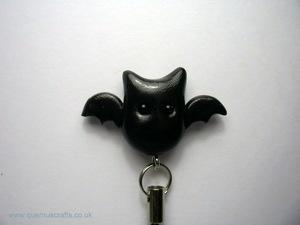 Wee Black Bat Phone Charm
