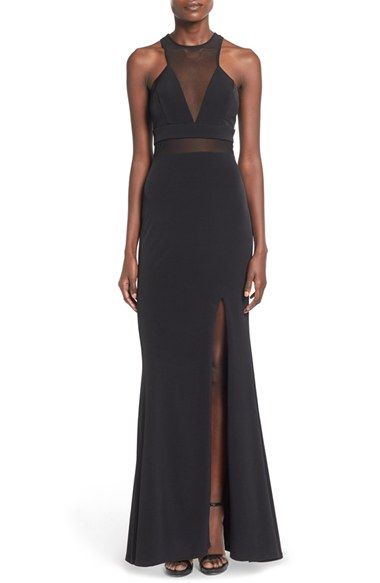 Way-In 'Wendy' High Neck Gown available at #Nordstrom