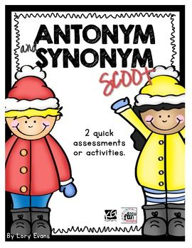 Freebie: Assess your students or get them up and at' em while reviewing their antonym and synonym skills.