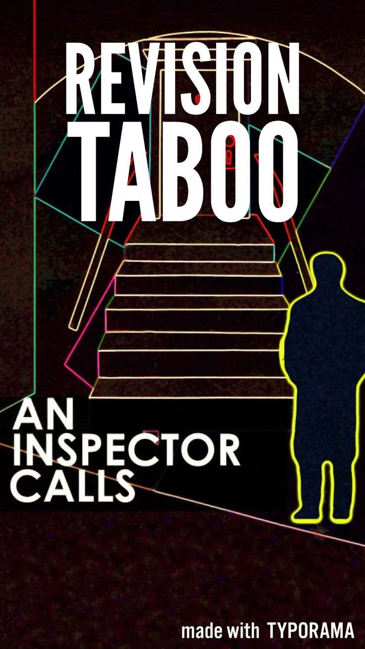 An engaging game of taboo for revision of An Inspector Calls  || Ideas, inspiration and resources for teaching GCSE English || www.gcse-english.com ||