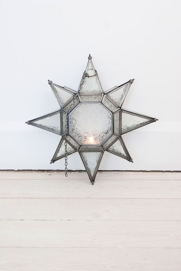 Large Glass Star Lantern #homeware #home #inspo #interiors #moroccan #candles #candle