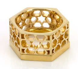 Lattice Ring #gold #contemporary #boutique #London  #designer #jewellery #handmade #NudeJewellery