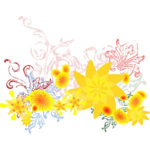 clip art backvrounds | Free Flower Clip Art - graphics of flowers for layouts, backgrounds ...