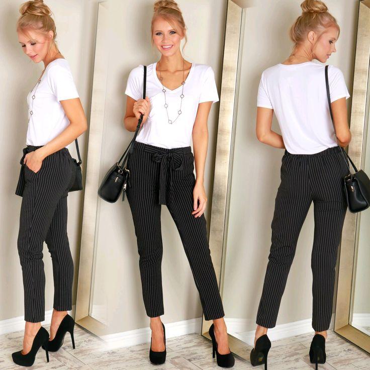 Pin Stripe Chiffon Pants ($29.99)
