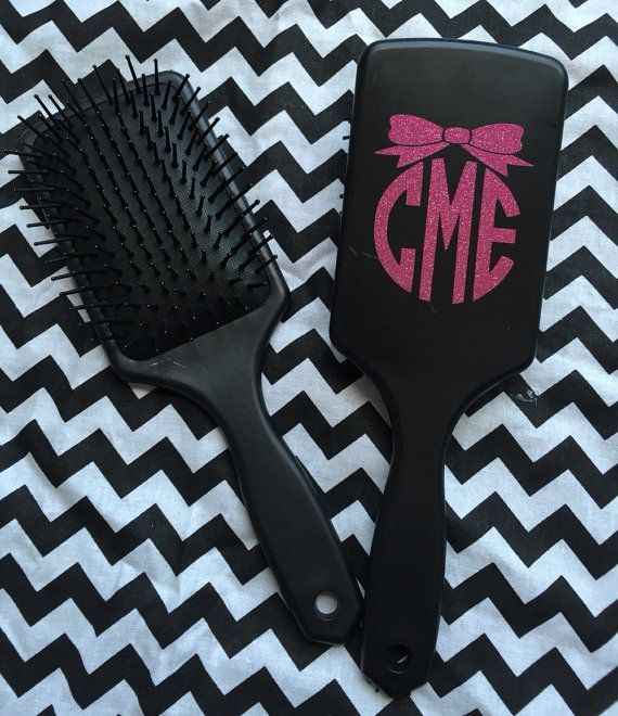 Paddle Hairbrush with Vinyl Monogram