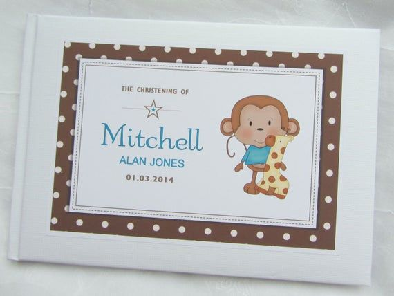 """PERSONALISED /""""BABY FEET/"""" CHRISTENING\NAMING GUEST BOOK PINK//BLUE"""