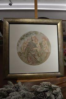 Casadei cornici: stampa (litografia)  con cornice oro argento