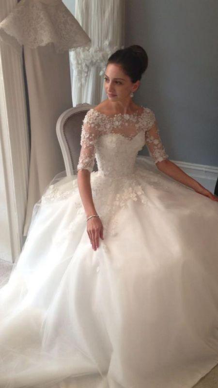 A truly stunning wedding dress by Steven Khalil
