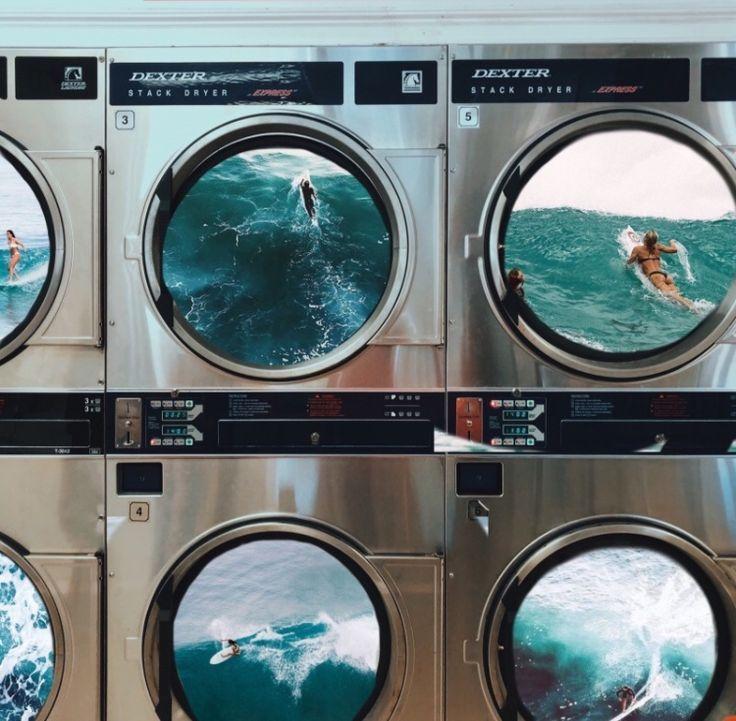 Washing Machine Collage Surfing Photo Photography