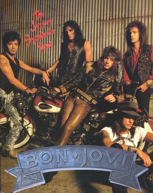 Alec John Such, Hector (Tico) Torres, David Bryan , Jon Bon Jovi and Richie Sambora// I have this tour book!