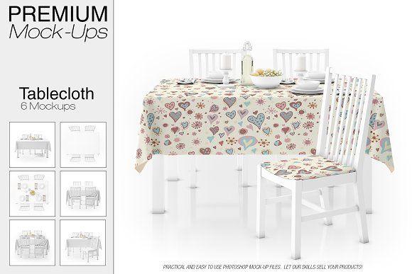 Tablecloth Mockup Set Mockup Mockup Design Custom Table Cloth