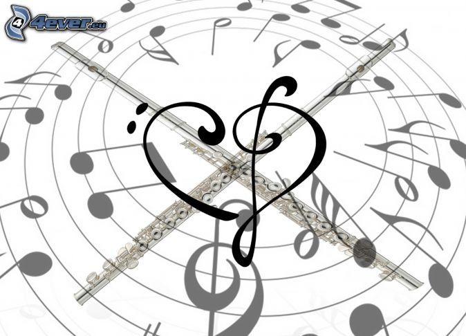 cuore con chiave di violino