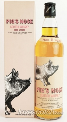 Blended Scotch Whiskey. Heard of pigs ear but never pigs nose #packaging : ) PD