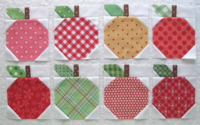 apple blocks - bee in my bonnet row along