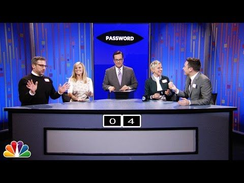 Ellen, Steve Carrell, Reese Witherspoon & Jimmy Fallon play a hilarious game of Password | Rare