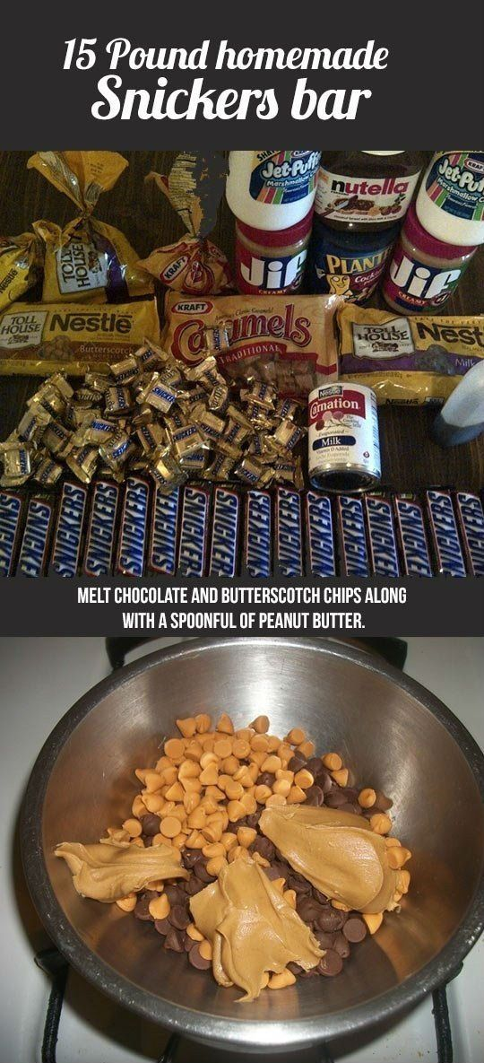 15 pound homemade snickers bar recipe! - CLICK TO SEE THE REST OF THE RECIPE!