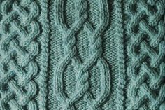 Aran Cable Knitting Stitch. Great Celtic style cable knitting pattern, perfect for aran sweaters!