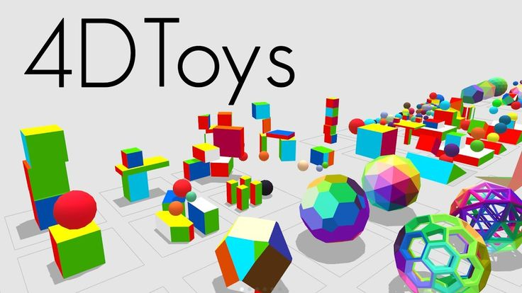4D Toys: a box of four-dimensional toys, for iOS and Steam (Vive VR or M...