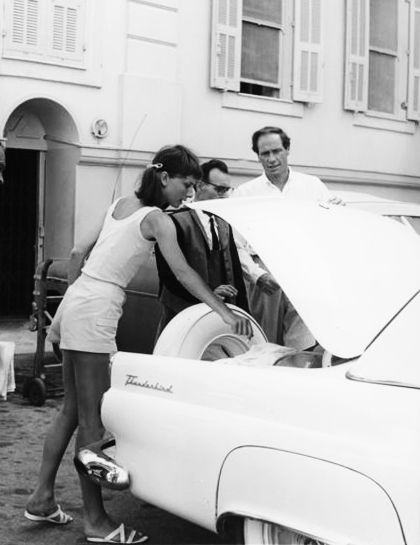 Audrey Hepburn and Mel Ferrer photographed by Edward Quinn on holiday in Cap Ferrat , France, 1956