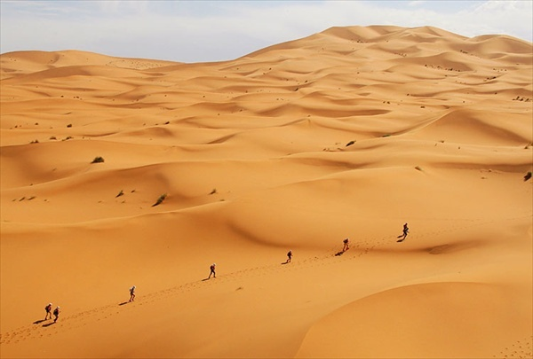 Marathon des Sables. 1 marathon per day for 6 days in a row through the sahara desert.