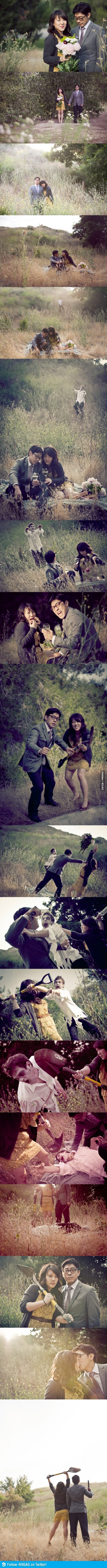 You think your engagement photos are funny?