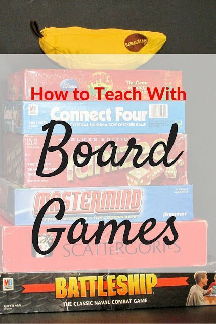 How to Teach with Board Games  -great ideas for using board games across the curriculum!
