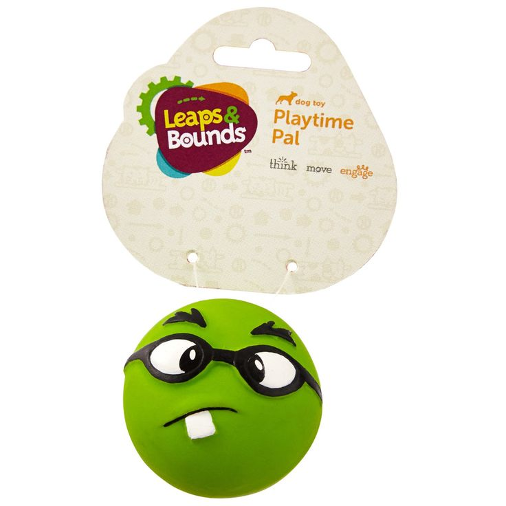 Leaps+&+Bounds+Latex+Emoticon+Ball+Dog+Toy+-+Latex+emoticon+balls+are+a+fun+playtime+pal+for+any+dog.+Durable,+pliable+latex+makes+a+durable+dog+toy+with+a+soft+feel. - http://www.petco.com/shop/en/petcostore/product/leaps-and-bounds-latex-emoticon-ball-dog-toy