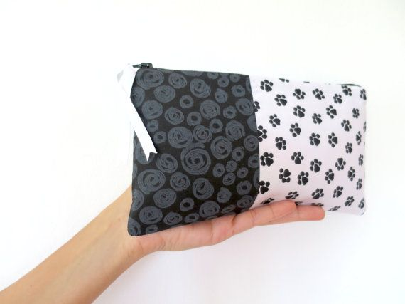 Handmade Large Pencil Case Large Pencil Pouch Fabric by HajiraKG