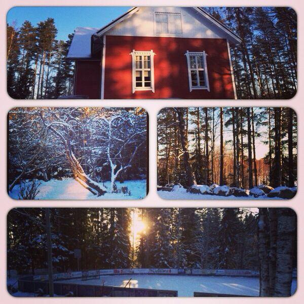 Onkemäki school in winter