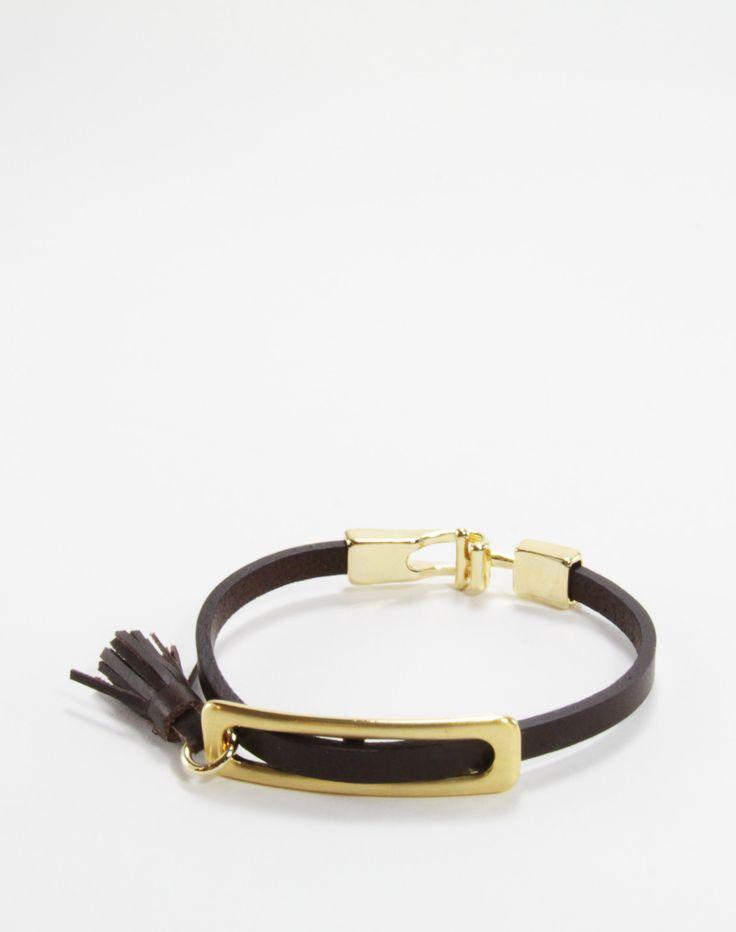 BENATRA - Solis Leather Mini-Tassel Bracelet Brown Content:  Genuine Italian Leather & Brass