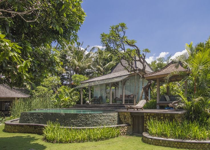 Exquisite riverside retreat in Canggu.