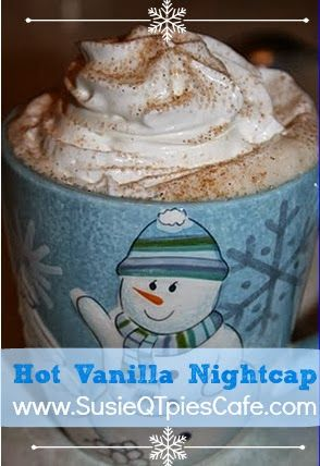 I love the beauty of autumn but not so much the chilly nights. I know that this also means winter with full on chill is knocking at my door. Warm drinks such as this hot vanilla nightcap is a good one to sip on at night to take the mind off of the chill in the air.
