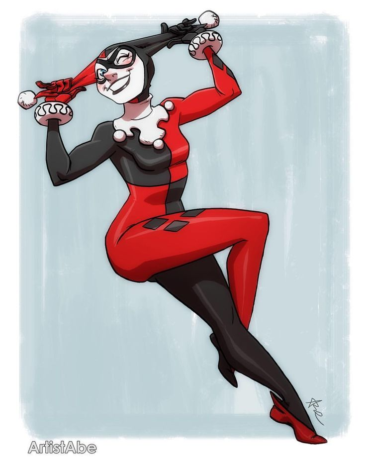 "2,073 Likes, 12 Comments - Abraham Lopez ☀️ (@artistabe) on Instagram: ""Gee whiz!!! ♦️ This lil minx!  #HarleyQuinn #HarleneQuinzel #DCcomics #ComicArt #HarleyQuinnArt…"""