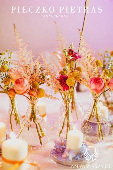 8. Electrical Wedding,Rustic,Centerpieces, / Elektryczne wesele,Dekoracje stołów,Anioły Przyjęć