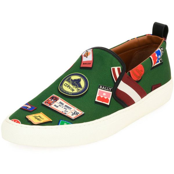 Bally Herald Ballymania Skate Sneaker (€380) ❤ liked on Polyvore featuring men's fashion, men's shoes, men's sneakers, multi, mens leopard print shoes, mens slipon shoes, mens slip on shoes, bally mens shoes and mens slip on sneakers
