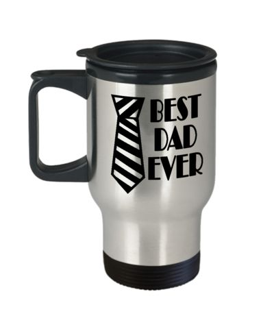 Best Dad Ever Travel Coffee Mug Father's day Gift Birthday Gift Travel Mug Travel Coffee Mugs Tea Cups 14 OZ Gift Ideas Tea Cup