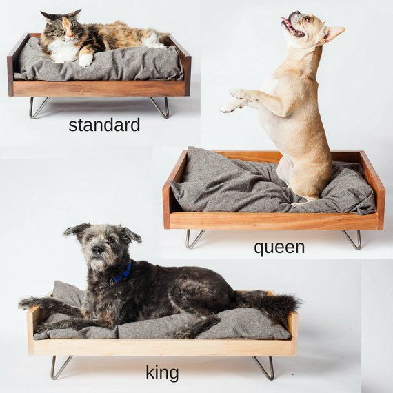 Hand Crafted Dog Bed Mid Century Dog Furniture Forever Dog Etsy