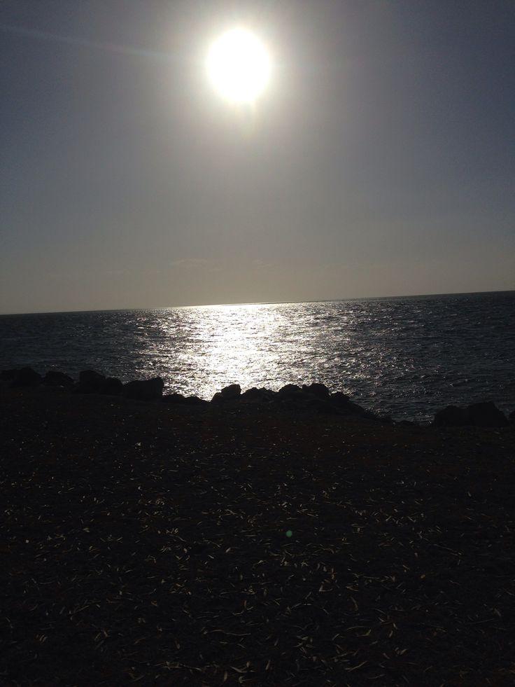 Sunset stradbroke island