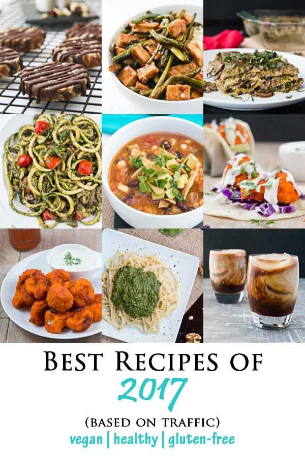 Best of 2017 - Top Vegan Recipes based on traffic #vegan #glutenfree #healthy | Vegetarian Gastronomy | www.VegetarianGastronomy.com