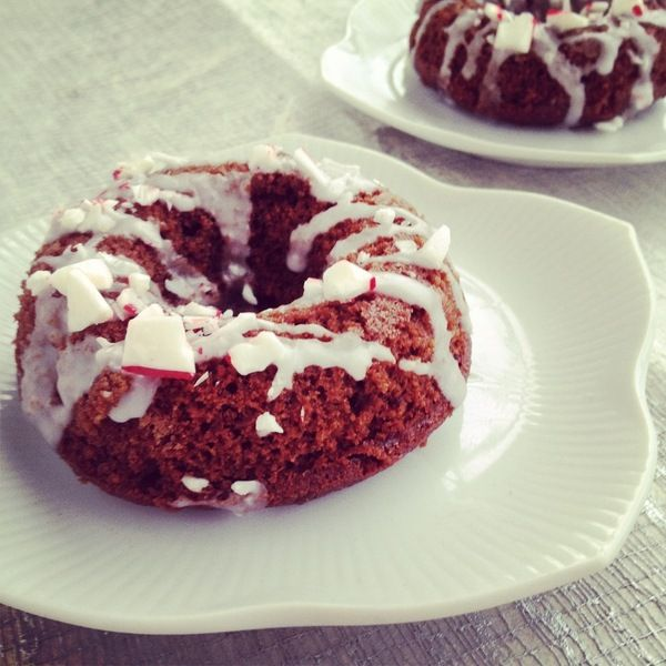 Grain Free Chocolate- Peppermint Cake Donuts.